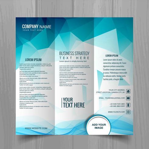 Abstrakt vågig affärskort broschyr mall design vektor