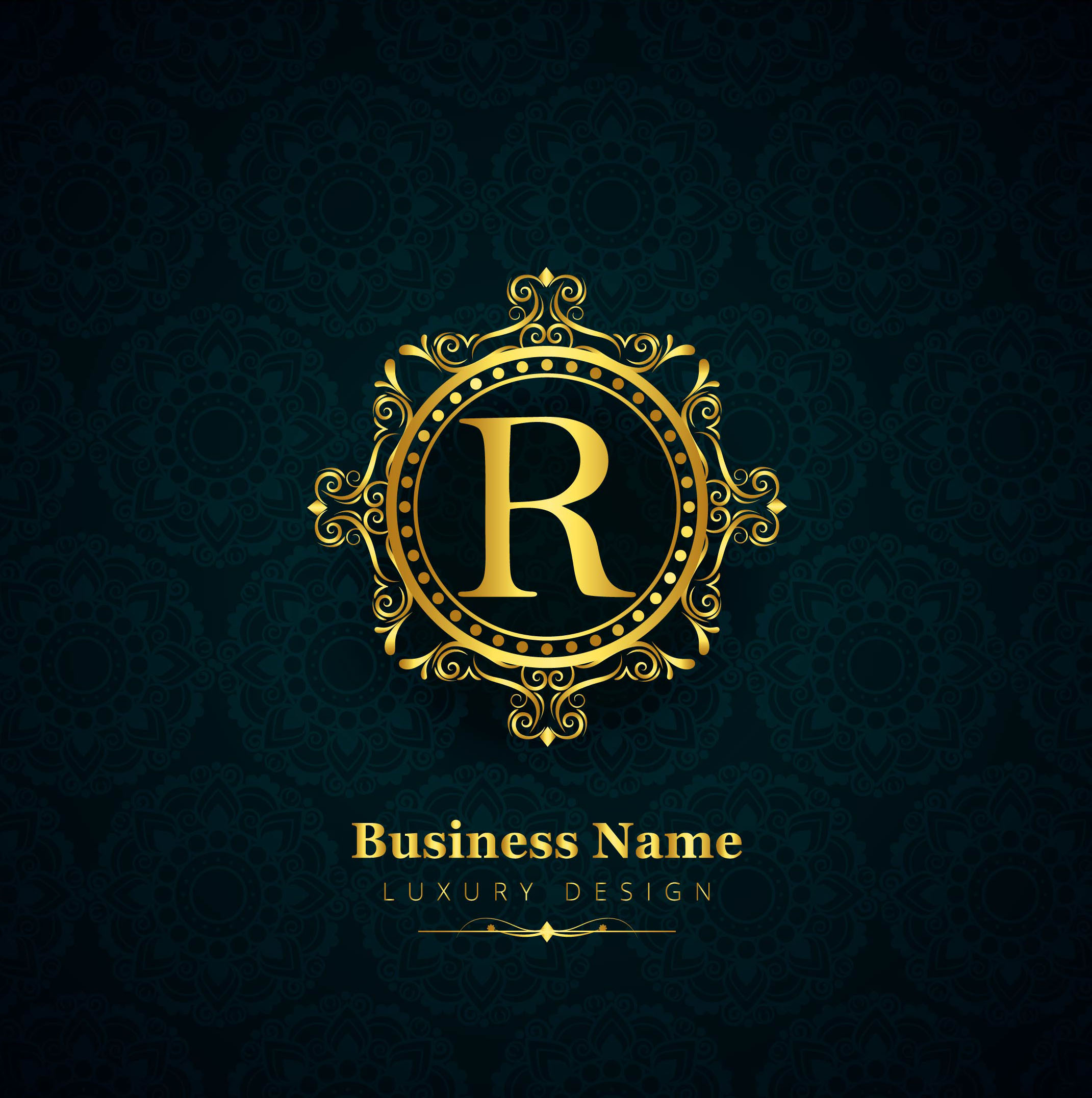Elegant Ornamental Logo With The Letter S: Luxury Brand Shiny Floral Design Vector