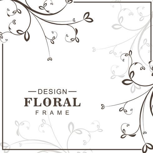 Vector de fondo floral decorativo abstracto