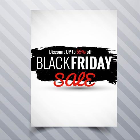Abstraktes schwarzes Freitag-Verkaufsplakat-Broschürenschablonendesign