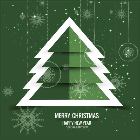 Feliz Navidad tarjeta de felicitación de colores de fondo vector