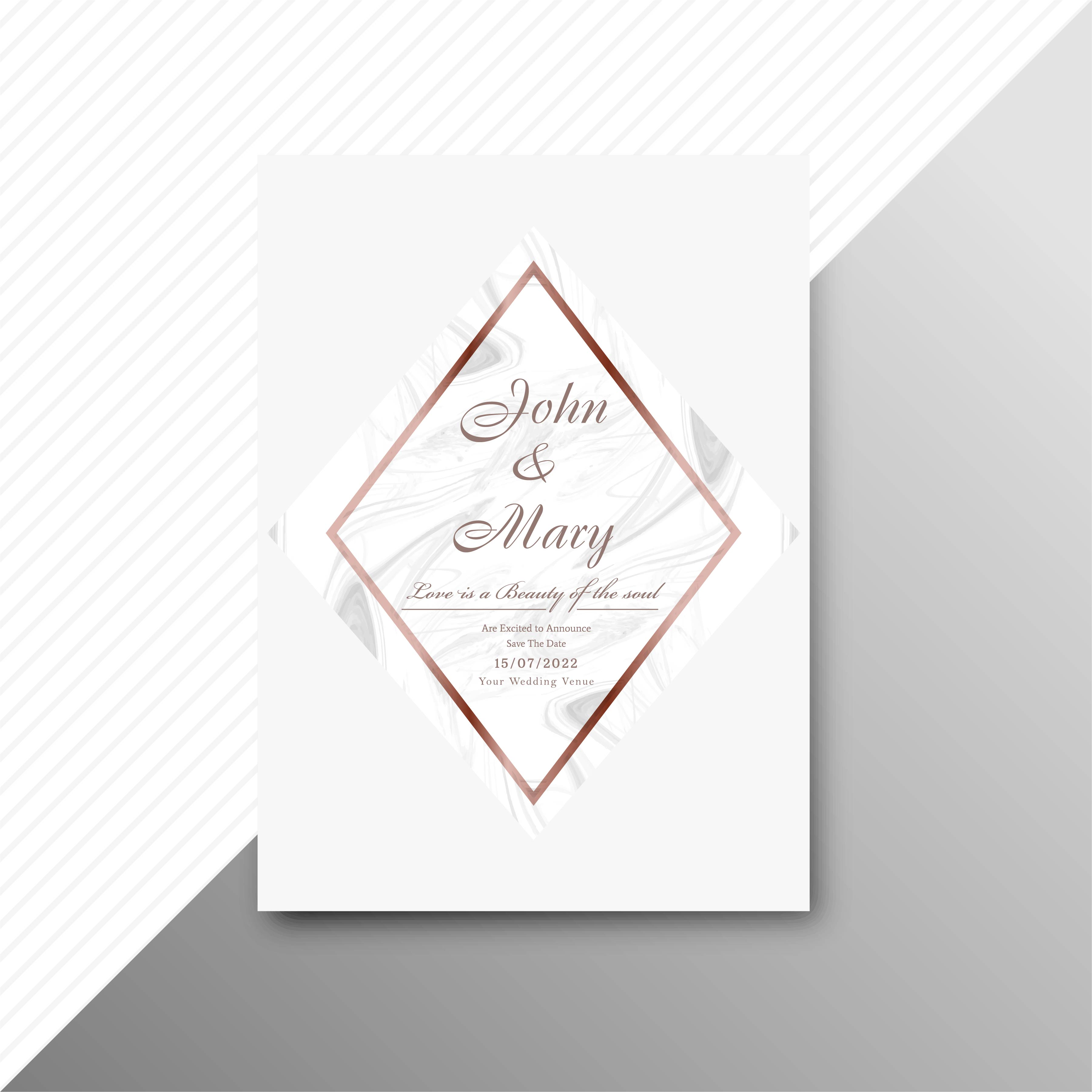 Modern wedding invitation card background - Download Free Vector Art ...