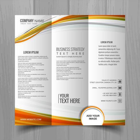 Vector abstracto ondulado del diseño de la plantilla del folleto del negocio