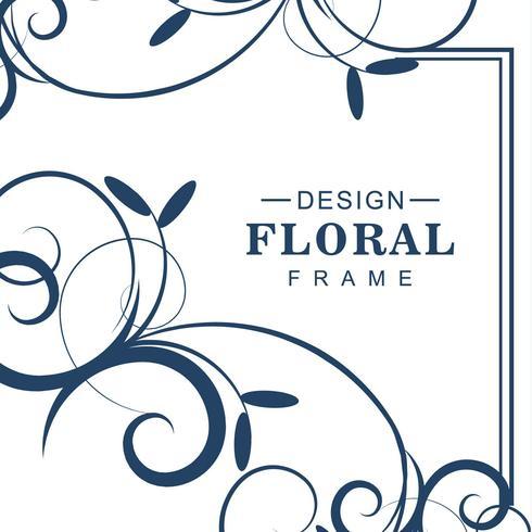 Abstracte decoratieve bloemenvector als achtergrond