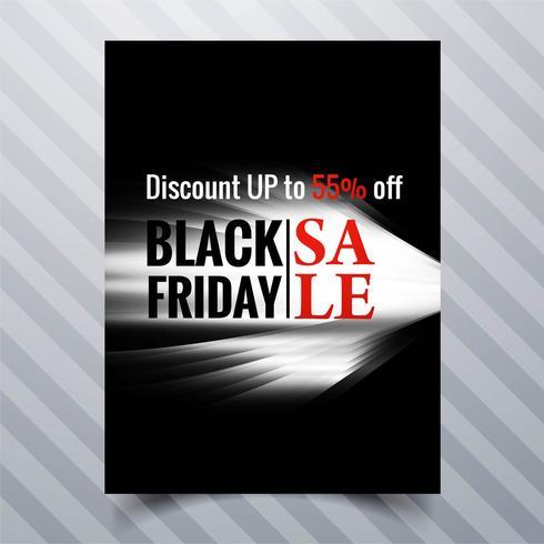 Diseño de plantilla de folleto de venta de viernes negro abstracto diseño