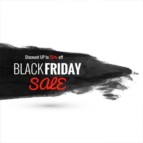 Vector de diseño de cartel de venta de viernes negro abstracto