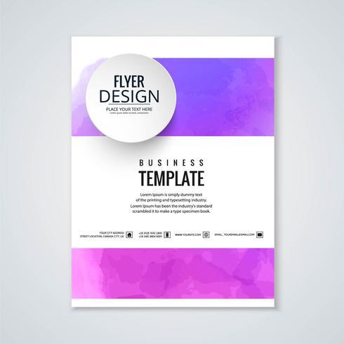 Conception de modèle de brochure aquarelle abstraite coloré