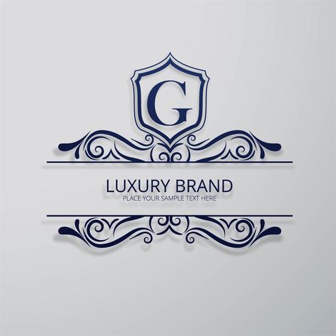 Glänzender Blumenentwurfsvektor der Luxusmarke