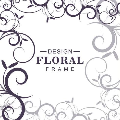 Vecteur de fond floral décoratif abstrait