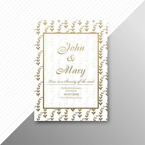 Hochzeitseinladungs-Kartenschablone mit dekorativem Blumen-backgrou