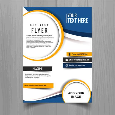 Modèle de carte brochure entreprise moderne élégant