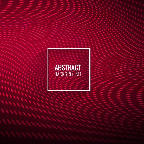 Abstracte stijlvolle rode gestippelde golf achtergrond
