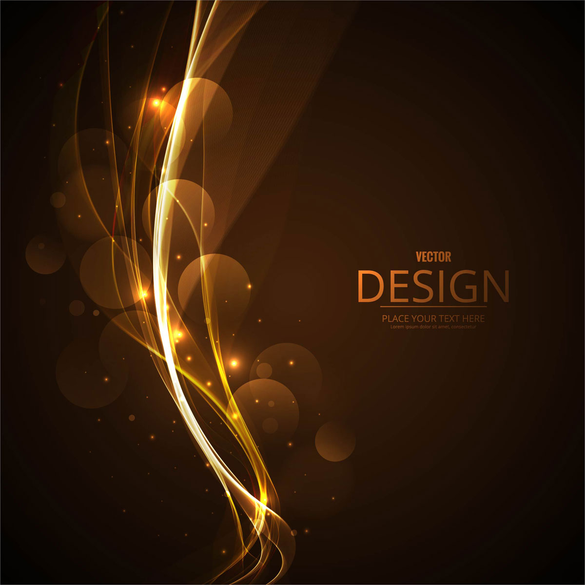 Abstract Business Elegant Wave Background Illustration