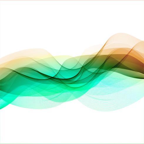 Abstracte bedrijfs elegante golf achtergrondillustratievector
