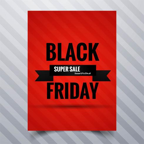 Abstract zwart van de de affichebrochure van de vrijdagverkoop het malplaatjeontwerp
