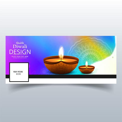 Mooi Happy diwali diya olielamp festival facebook cover des