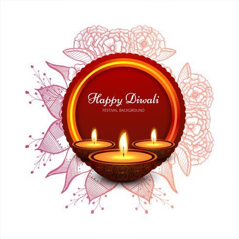 Elegant kortdesign av traditionell indisk festival vektor backgr