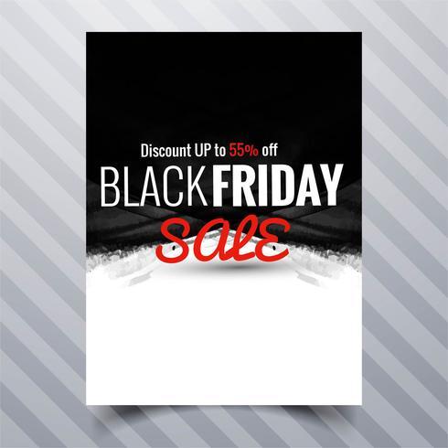Conception de modèle de brochure abstraite vendredi noir vente affiche