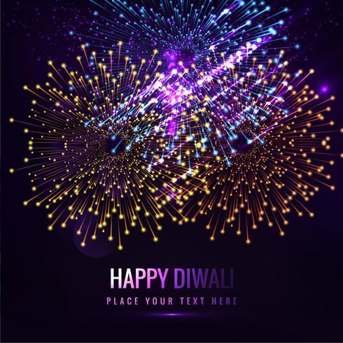 Glückliche diwali diya Öllampen-Festivalhintergrundillustration
