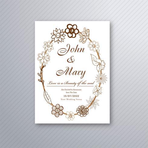 Vector elegante del fondo de la invitación hermosa de la boda