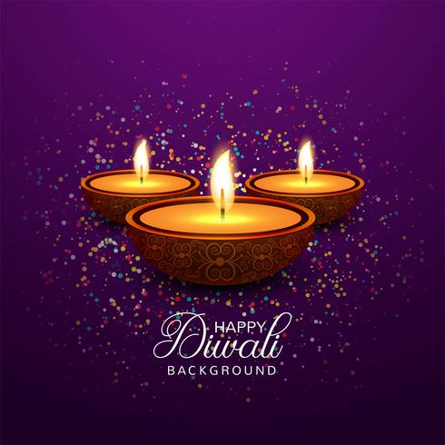 Belle carte de voeux pour le festival joyeux diwali fond vec