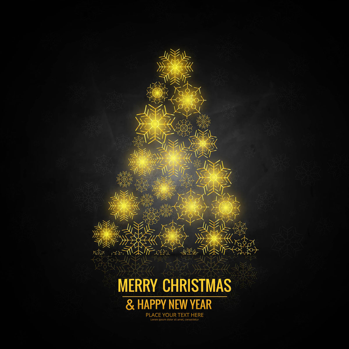 Merry Christmas greeting card colorful background vector - Download ...