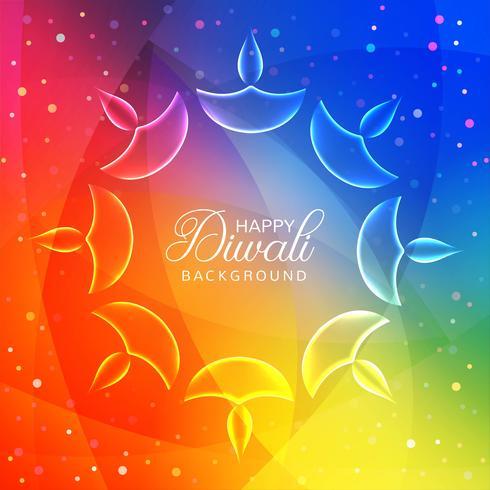 Elegante diseño de festival diwali brillante