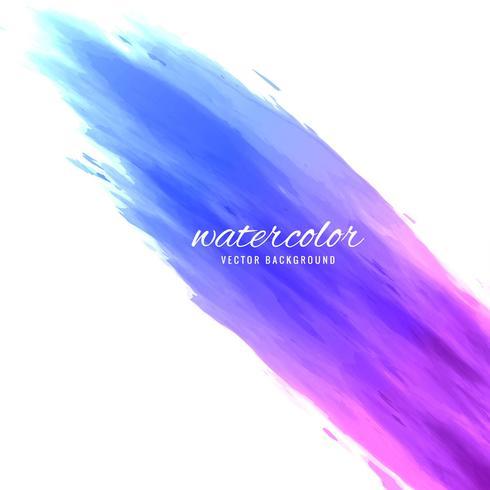 abstrakt färg pensel blå akvarell design