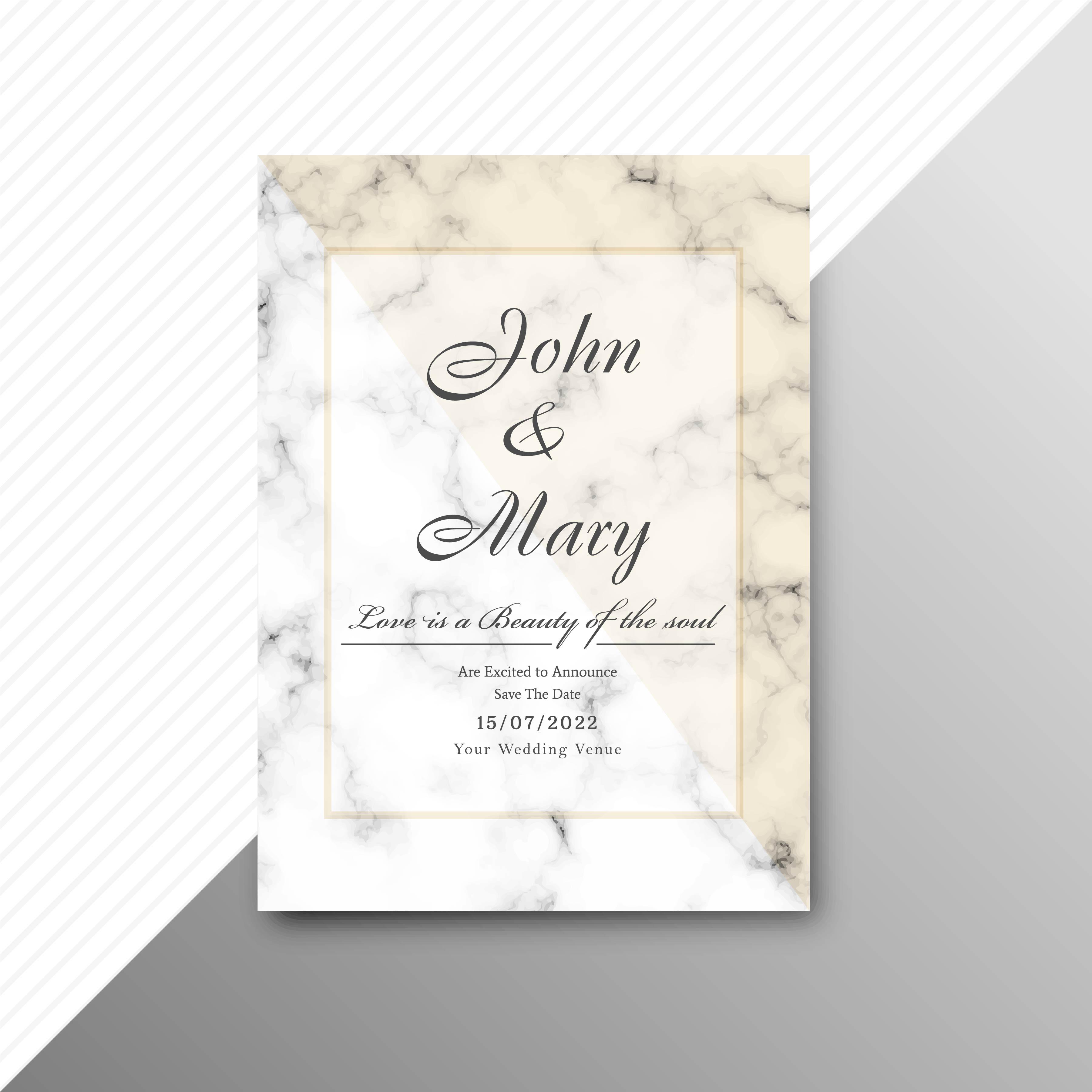 modern wedding invitation card background  download free