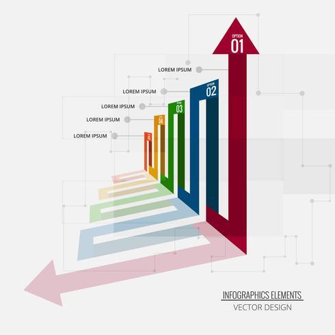 Abstrait infographie créatif