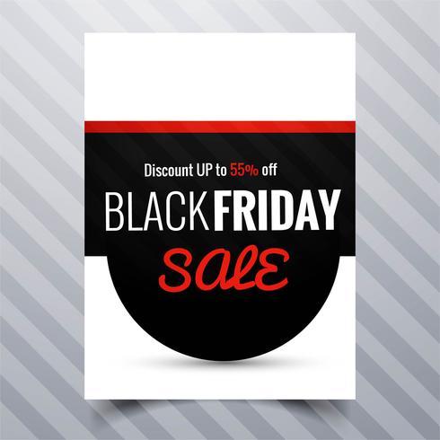 Progettazione del modello dell'opuscolo del manifesto di vendita di venerdì nero astratto