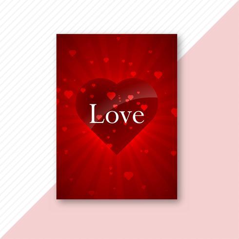 Mooi liefdekaart brochure sjabloonontwerp vector