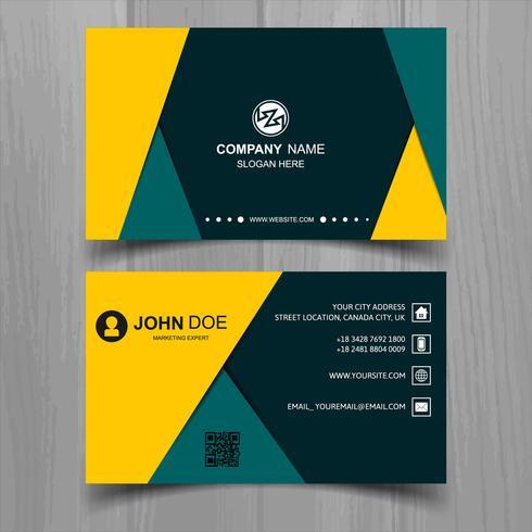 Diseño elegante abstracto de la plantilla de la tarjeta de visita de la onda