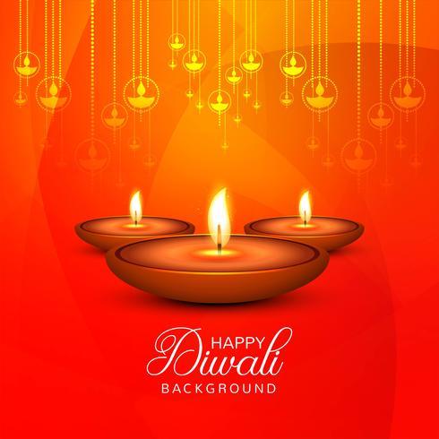 Vector de fondo decorativo hermoso feliz Diwali
