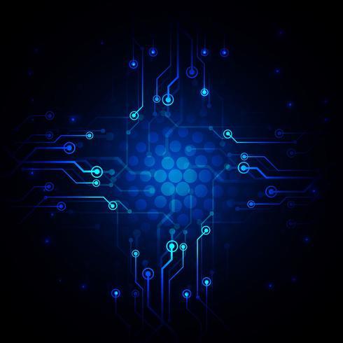 Abstracte technologie achtergrondontwerpillustratie vector