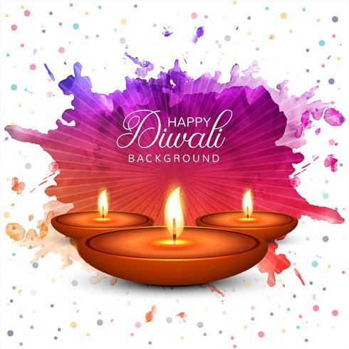 Fondo feliz de la celebración del festival de la lámpara del aceite de Diwali Diya