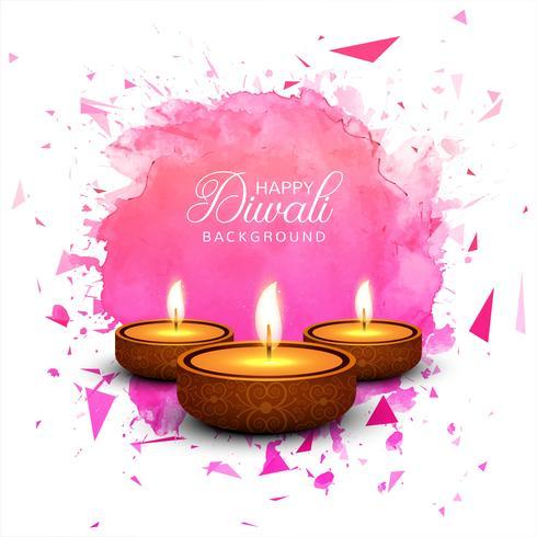 Schöne Grußkarte für Festival glückliches diwali Hintergrund-VEK