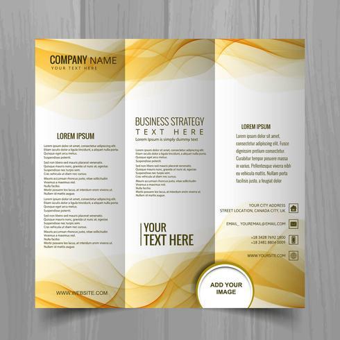 Abstract wavy business brochure template design vector