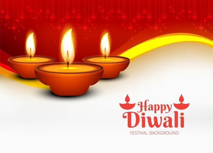 Hermosa feliz diwali diya lámpara de aceite festival decorativo backgro