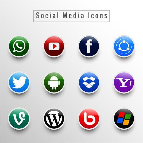 Ikoner för sociala nätverk vektor illustration design