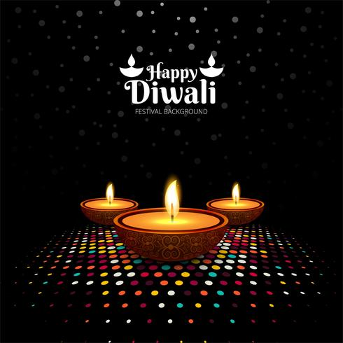 Abstrakt Happy Diwali festival kort bakgrund vektor