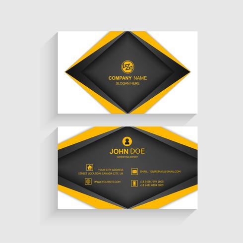 Kreative und saubere Vektor-Visitenkarte-Schablone