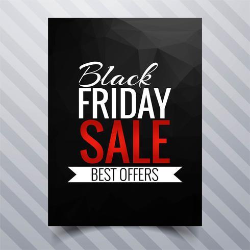Abstrakt svart fredag försäljning affisch broschyr mall design