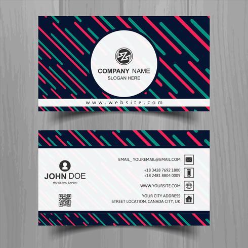 Design de modelo de cartão de visita elegante onda abstrata