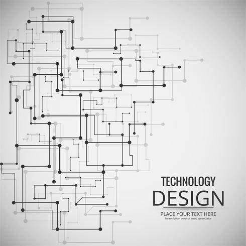 Resumen tecnología de diseño de fondo ilustración vector