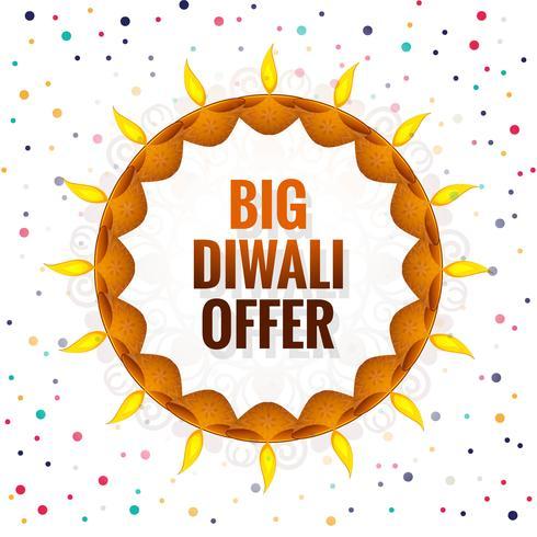 Big Diwali festival erbjuder bakgrunds vektor