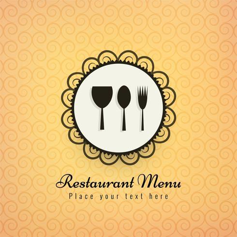 Hintergrund-Vektorillustration der Restaurantikonen bunte
