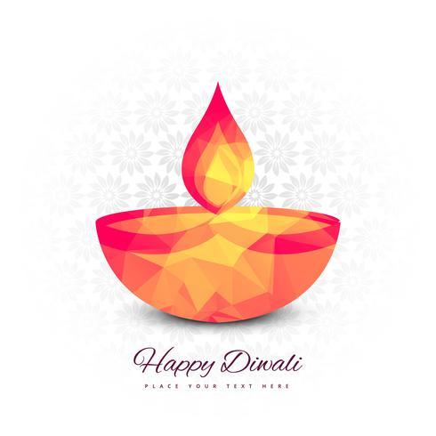 Vacker Glad Diwali festival bakgrunds vektor