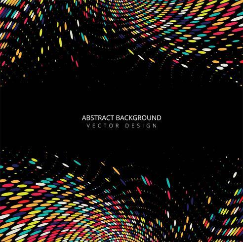 Fundo de onda pontilhada colorido elegante Abstractl