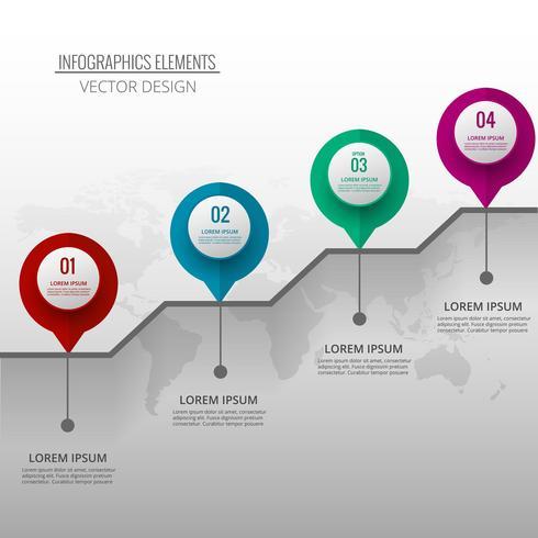 Abstrakter kreativer infographic Hintergrund